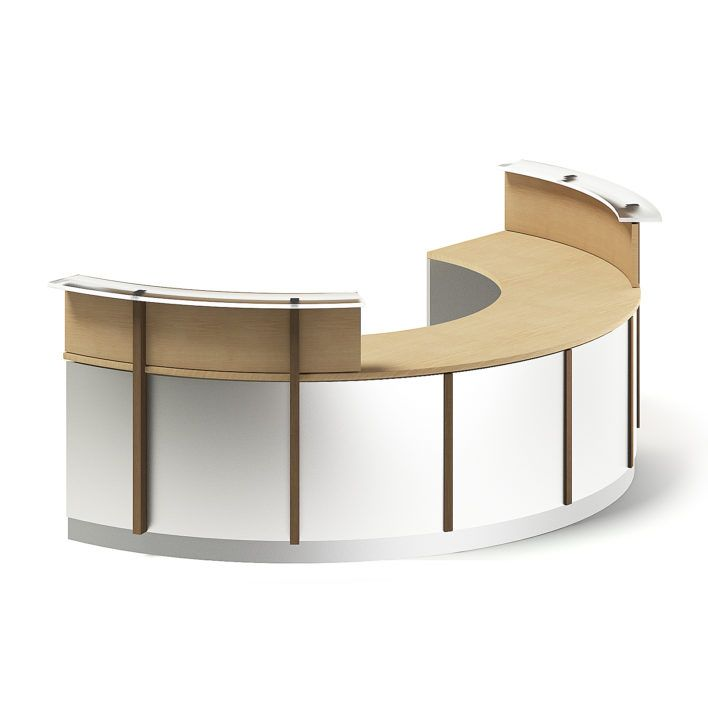 Round Reception Desk 3D Model (With images) Round