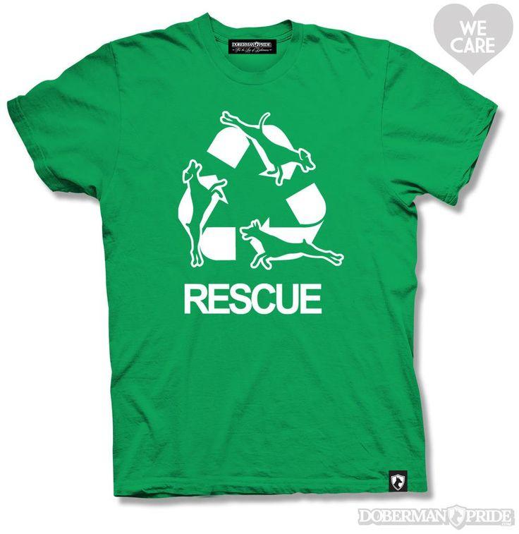 Doberman Rescue Mens Tee. #doberman #rescue #adopt