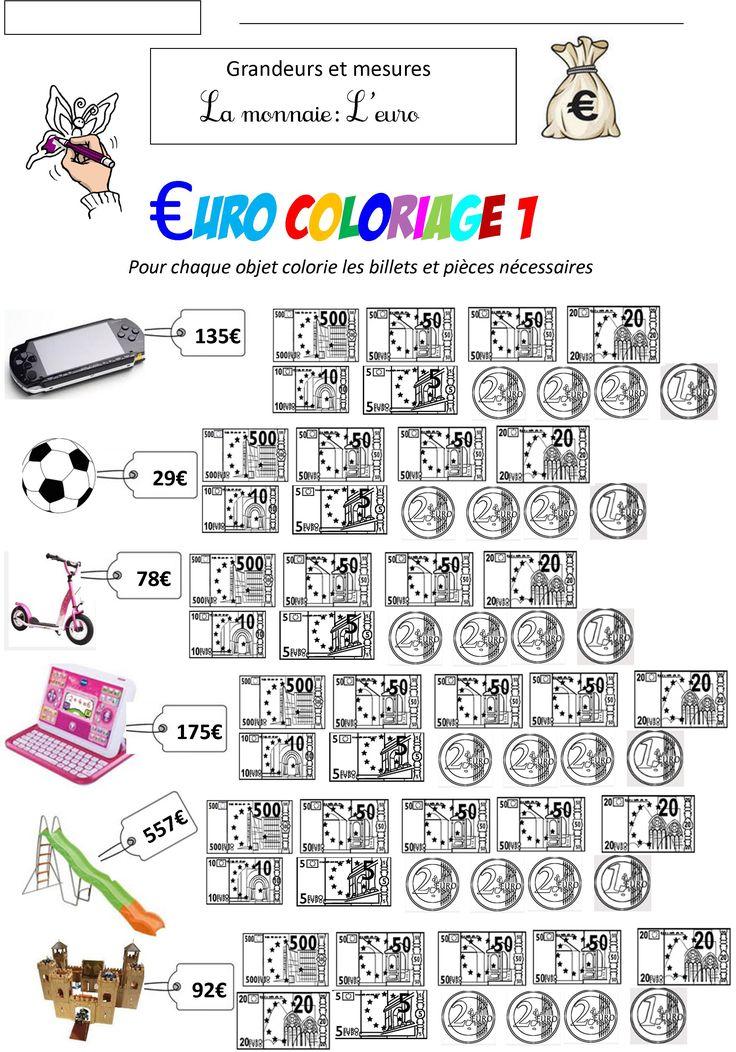 monnaie euro | BLOG de Monsieur Mathieu GS CP CE1 CE2 CM1