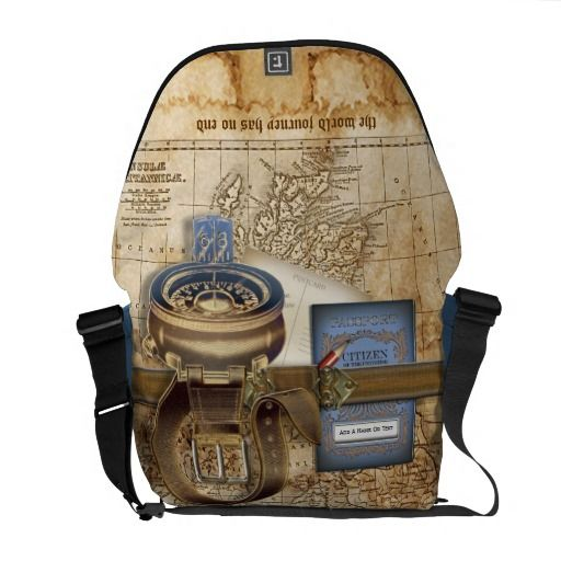 The Traveller Personalized Messenger Bag