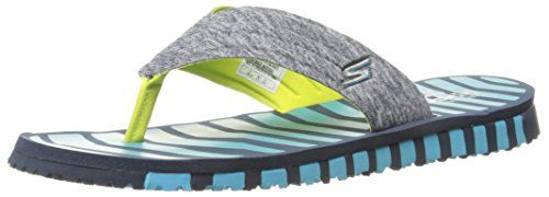 Skechers Performance Womens Go FlexVitality Flip Flop NavyBlue 7 M US -- Details can be found by clicking on the image.