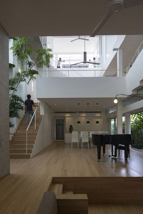 Formwerkz Architects Terrace Property is covered with plants inside and out architecture   photo