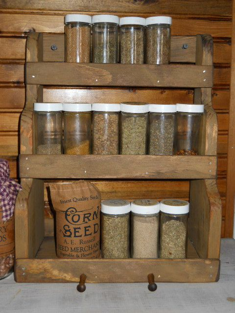 Primitive farmhouse spice rack primitives farmhouse and for How to make a spice rack out of pallets