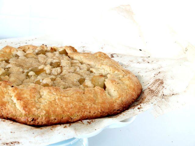 Arabafelice in cucina!: Crostata rustica di mele con crumble alla cannella