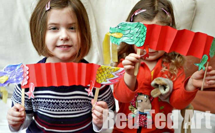 Chinese New Year Craft: Dragon Puppet & Free Printable