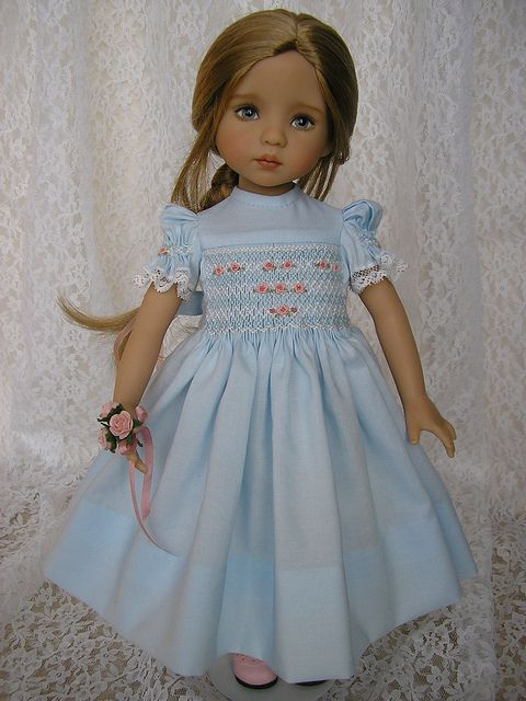 Tomi Jane's Diana Effner doll with dress designed by Kathy Weiland: