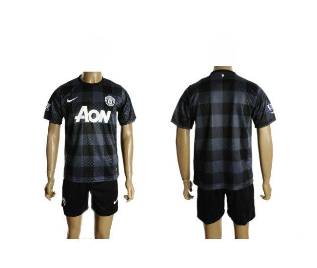 Camiseta de futbol Manchester United Alternativo 2013 2014 negro manga corta
