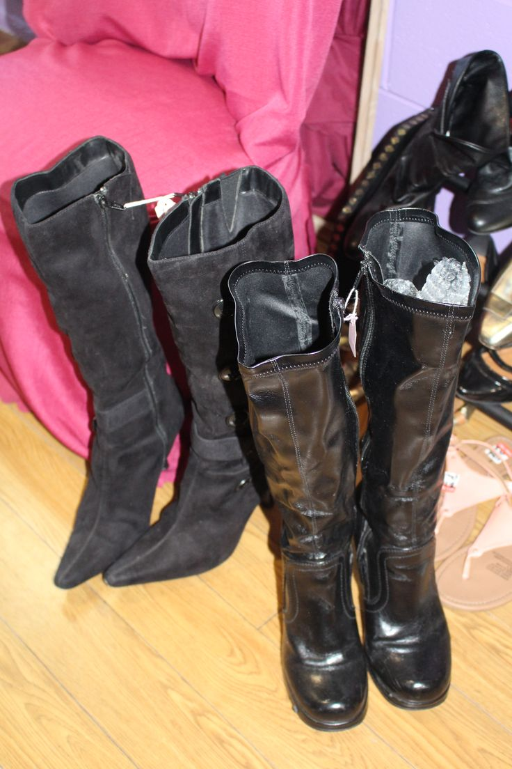 All pre loved boots WOW Op Shop