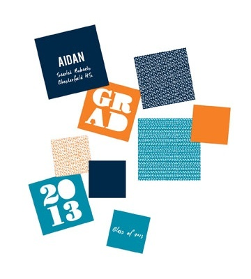 Graduation Party Decorations -- Bold Grad Table Decor. Bold and modern, these graduation party decorations are perfect for adding a little color and personality to your tables!