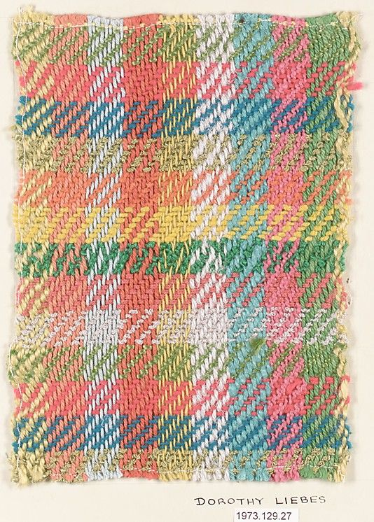Textile sample, Dorothy Liebes  (American, Santa Rosa, California 1897–1972 New York)  | The Metropolitan Museum of Art