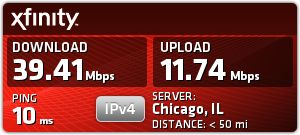 Comcast Speed Test on HP wifi - Sep 12 at 7:11am: