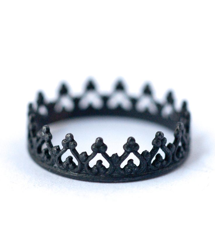 Oxidized Princess Crown Sterling Silver Ring | Jewelry Rings | LoveGem Studio | Scoutmob Shoppe | Product Detail