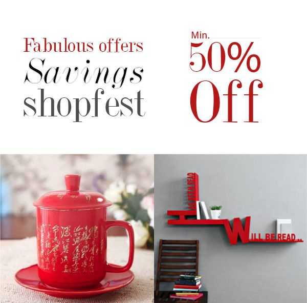The Savings Shopfest - Get a minimum discount of 50% on select products (over 900 products) shown on the landing page. No minimum cart value or coupon code required. Fabfurnish Coupon Codes & Deals.