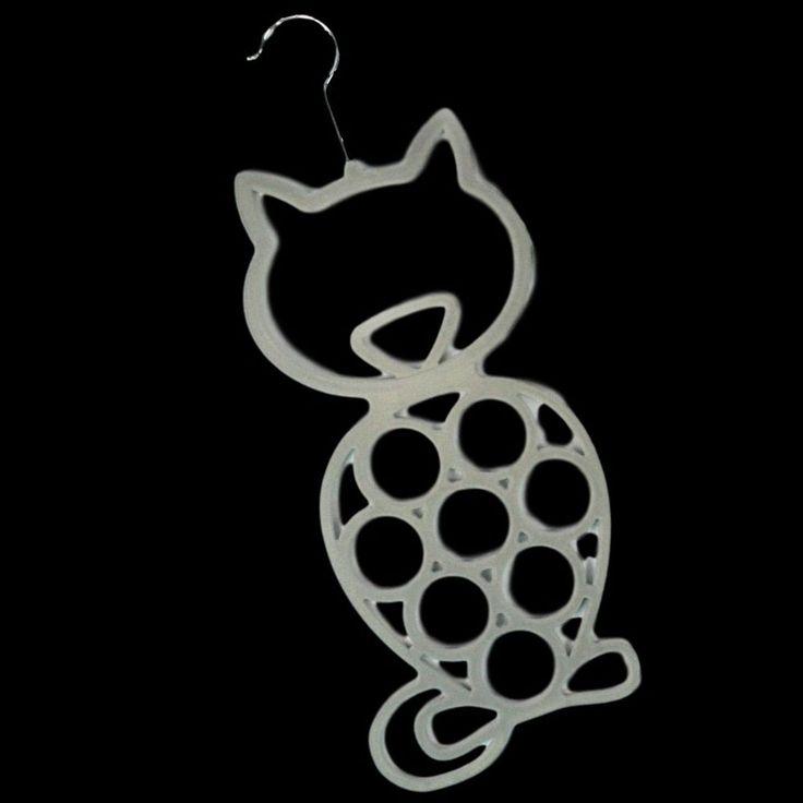 2 X CAT SCARF BELT TIES SHAWL NECKTIE TIGHTS HANGER WARDROBE ORGANISER STORAGE  #BlackGinger