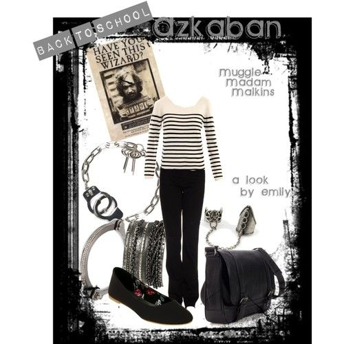 How about an Azkaban-inspired outfit, Harry Potter fans? :)
