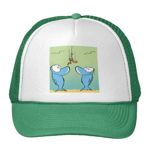 Fish love worms. This cap will keep the sun off every keen fisherman's head. #zazzle #fishinghat #fishingcartoon #fishing $26.95