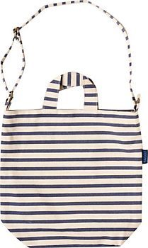 Irresistible stripes on sturdy duck canvas -- perfect book bag, market carry-all or everyday tote!  From Baggu