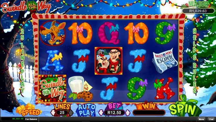 Time for some Christmas fun try #SwindleAlltheWaySlot by #RTG here Play for Fun or Real Money  Swindle All the Way is the RTG online video slot which offers up to 60 free games with multipliers going up to 33x and the top prize of 82,500 coins.  https://www.playcasino.co.za/swindle-all-the-way-slot.html