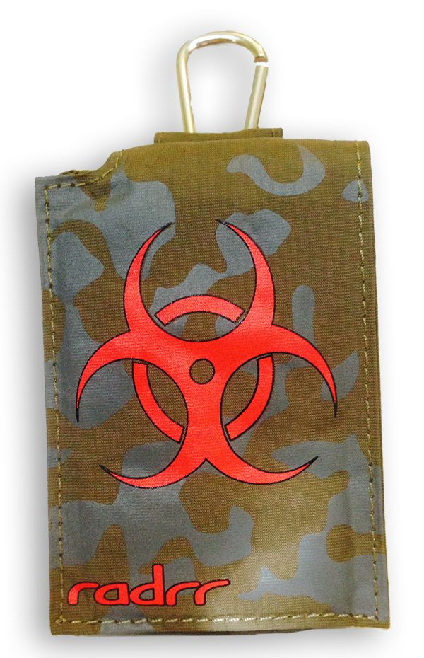 Our camouflage insulin pump case with bio-hazard symbol is just the case for guys that love the military look.  This looks good with jeans or with a pair of camouflage pants.  Fits the major insulin pump cases including all Medtronic models.