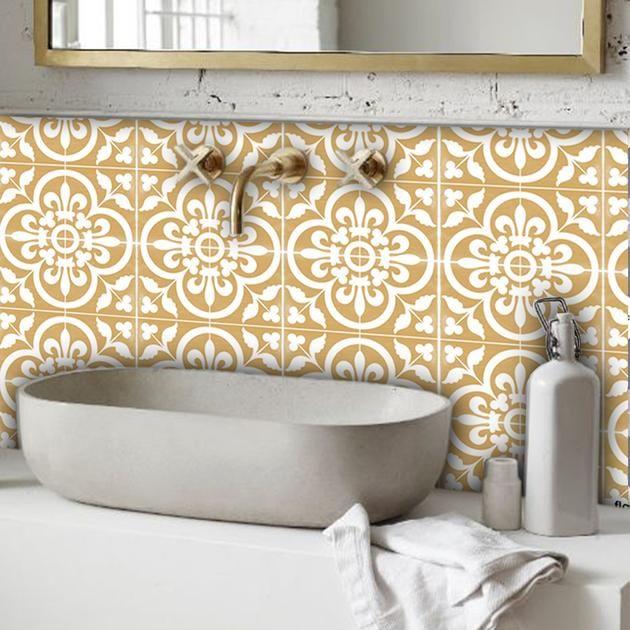 Corona In Golden Wallpaper Removable Vinyl Wall Decals Bathroom Storage Boxes Golden Wallpaper