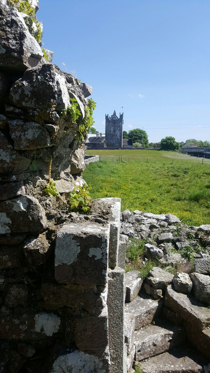 Claregalway Castle. View from Claregalway Abbey.