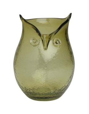 Glass Owl Hurricane Vase