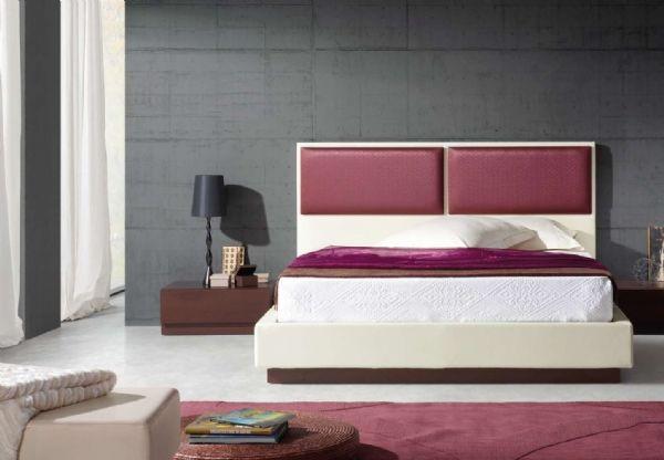 cama tapizada polipiel 15 - cabecero polipiel,tela o piel