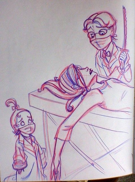The Hostile Hospital, Lemony Snicket - I don't know who drew this but it's just amazing!