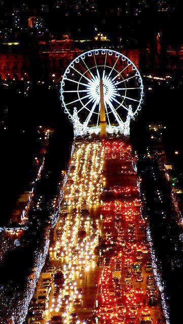 Christmas lights on the Champs-Élysées, Paris