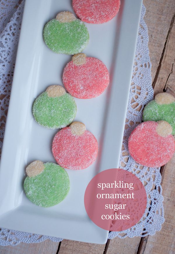 Sparkling Ornament Sugar Cookies   this heart of mine