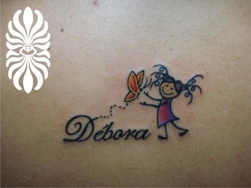Tattoo boneca e borboleta                                                                                                                                                      Mais