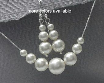 Swarovski blanco perla amatista y joyería de por alexandreasjewels