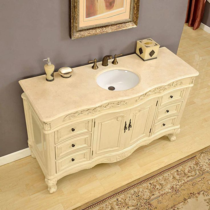 Silkroad 60 inch Antique Ivory Finish Bathroom Vanity Cream Marfil Counter  top. 17 Best ideas about 60 Inch Vanity on Pinterest   Master bathroom