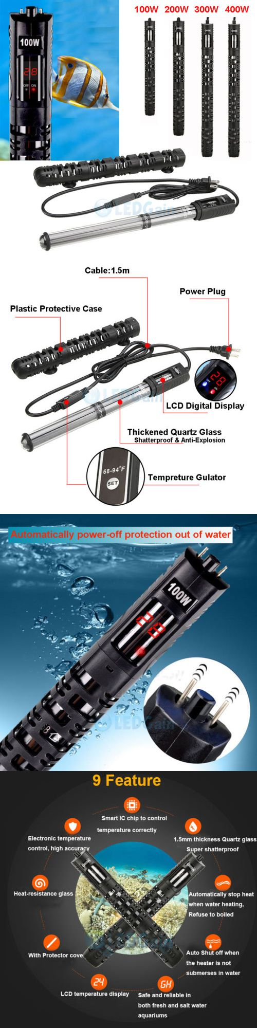 Heaters and Chillers 177799: 100W-400W Aquarium Heater Anti-Explosion Submersible Fish Tank Water Adjustable BUY IT NOW ONLY: $40.99