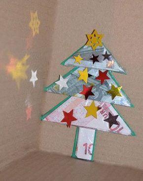 Geldgeschenk basteln - Geld-Tannenbaum zu Weihnachten basteln