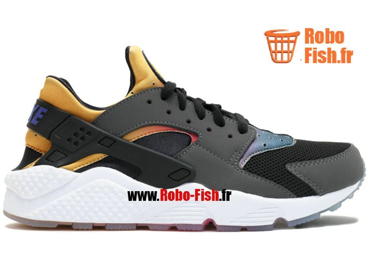 Nike Huarache Run Sd , Chaussure Nike Running Pas Cher Pour Homme Rainbow  Noir Violet Persan