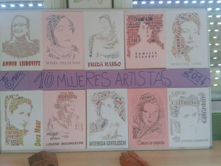 10 Mujeres Artistas. Actividad de los alumnos de Bachillerato de Artes Plásticas.