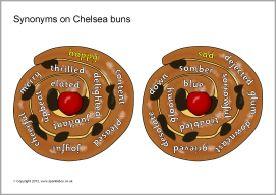 Synonyms on Chelsea buns (SB7309) - SparkleBox