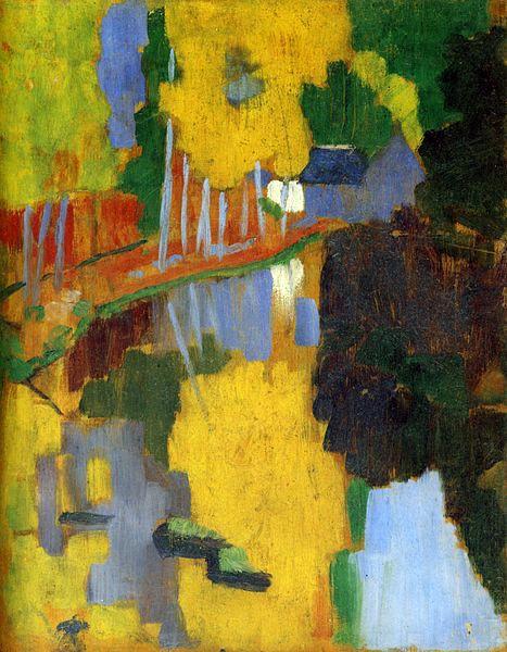 Le Talisman (1888) // Paul Sérusier // (Compagnon de voyage de Gauguin) (post impressionnisme)