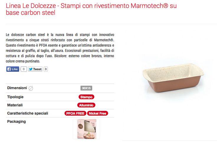 Stampi e teglie in marmotech : Stampo plumcake in marmotech Barazzoni 15 x 30 cm