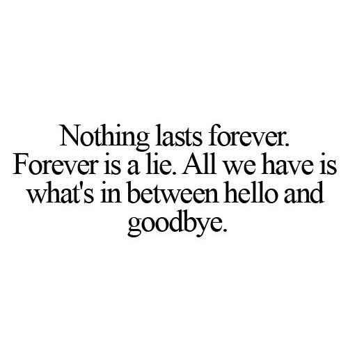 Saying Goodbye To Your Ex Quotes: 25+ Best Ideas About Nothing Lasts Forever On Pinterest