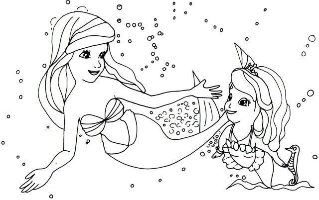 27 Awesome Photo Of Sofia The First Coloring Page Albanysinsanity Com Mermaid Coloring Pages Disney Coloring Pages Ariel Coloring Pages