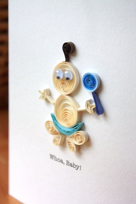 Квиллинг открытка для новорожденных, объемные бумаги своими