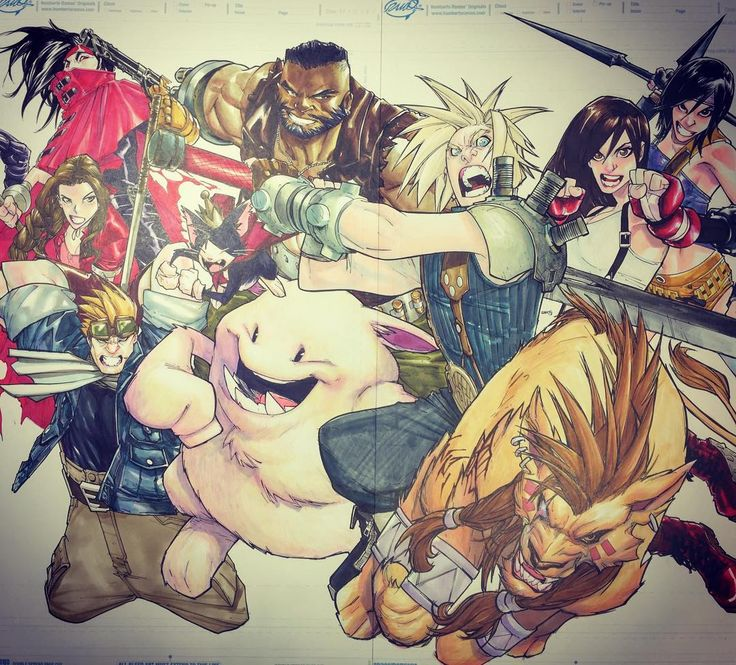 #commission #finalfantasy7 #videogames #touchmarkers #shinhanart #shinhantouchmarkers ok, done!