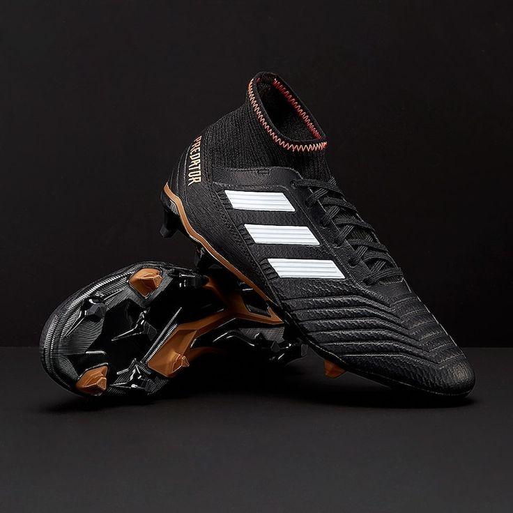 adidas Predator 18.3 FG - Core Black/White/Solar Red