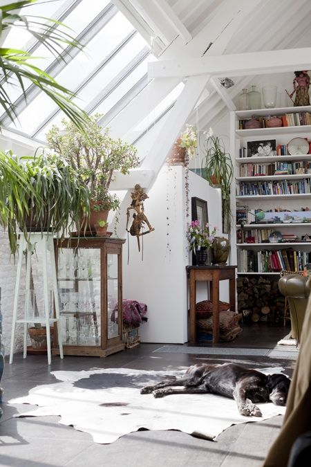 Working space |light loft living |eclectic home office