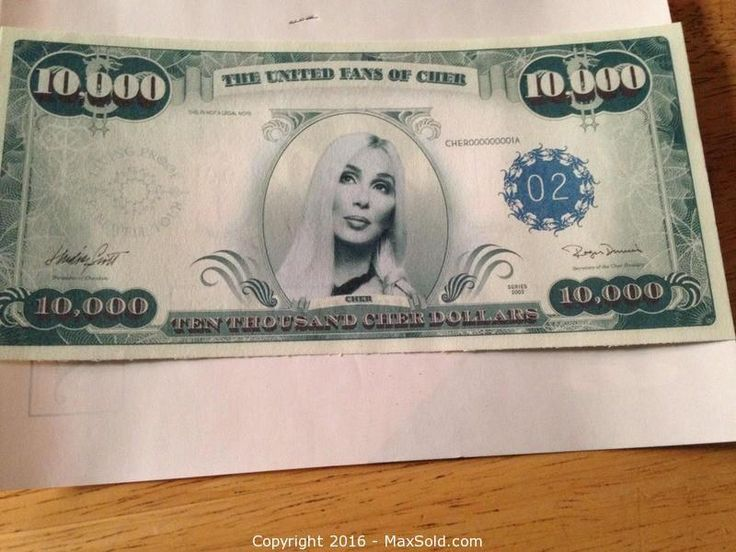 MaxSold - Auction: Belleville  Downsizing Online Auction -  Cher 10000 Dollar Bill