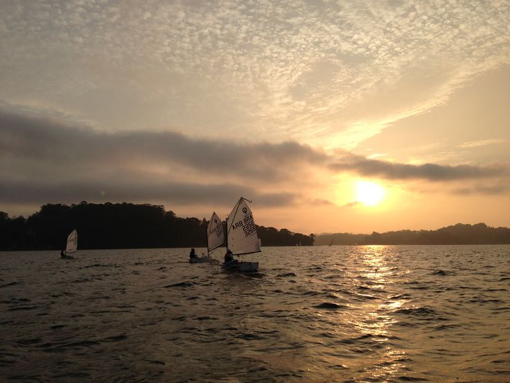 End of the day optimist sailing - Guarapiranga São Paulo