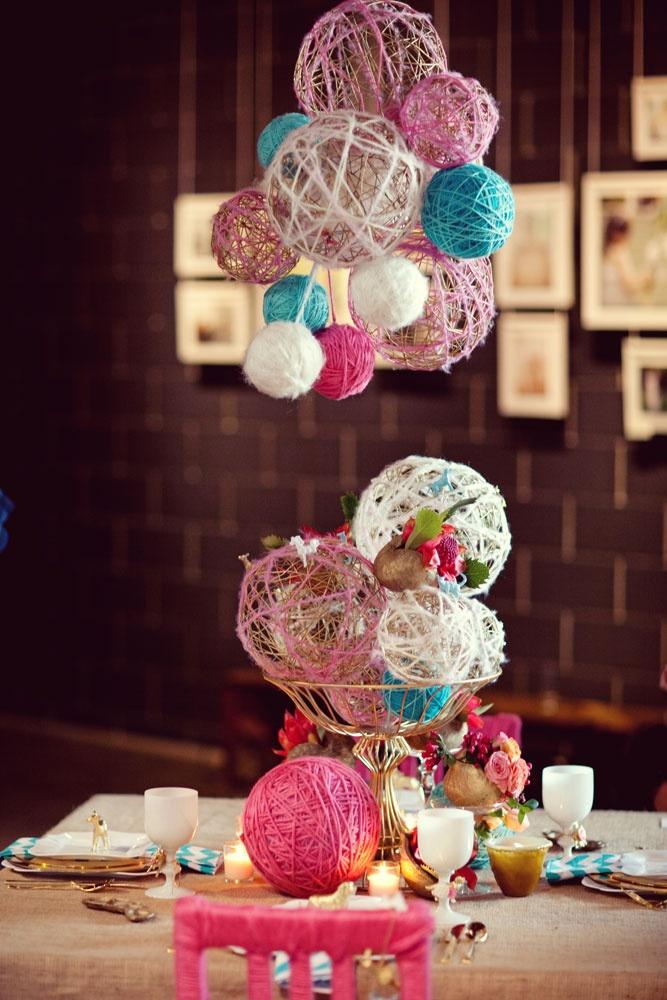 Yarn macheBall Decor, Yarns Ball, Young Women, Parties Ideas, Centerpieces, Birthday Parties Decor, Center Piece, Diy Projects, Crafts