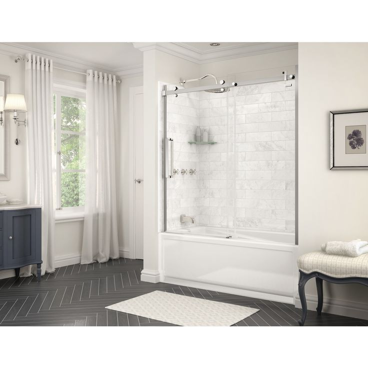 maax marble carrara composite bathtub wall surround